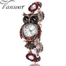 Hot Vintage Owl Fashion Womens Quartz Bracelet  Brand Watches Gift Wrist Watch
