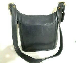 COACH LEGACY 9816 VINTAGE BLACK LEATHER DUFFLE BAG CORSSBODY SHOULDER PURSE