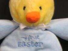 CARTER'S JUST ONE YOU MY 1ST EASTER BABY YELLOW DUCK BLUE PAJAMA PLUSH RATTLE 9""