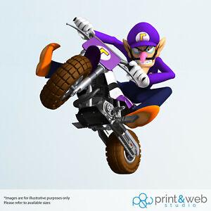 Super Mario Waluigi on Motorbike Wall Decal Bedroom Vinyl Kids