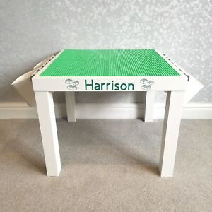 Construction Play Table Green Base Plates Compatible with brands including Lego