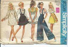 S 8208 sewing pattern 60's Mini-DRESS boho BLOUSE SKIRT trendy PANTS sew size 10
