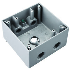 """Pass & Seymour WPBD252 All Weather Gray 5 Hole 1/2"""" Outlet Boxes (4)"""