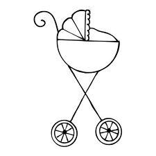 Prima Julie Nutting Stroller Baby Doll Stamp Scrapbook 911355