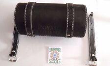 PVC NERO BORSA PORTAUTENSILI/rotolo. GOFFRATO ROYAL ENFIELD LOGO- IMPERMEABILE