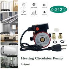 3 Speed Circulator Pump Household Heating Recirculation Pump 65lm 110v Red