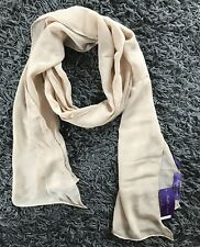 Foulard RALPH LAUREN Purple Label Beige Femme Soie 100% Neuf Authentique 09046f8a10f