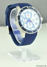 FREE Ship USA Chic Men Watch GUESS Blue Rubber Classic New U12651G2 Prime Lovely