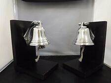 Polished Aluminum Nautical Ship's Bell Decorative Bookendsset of 2