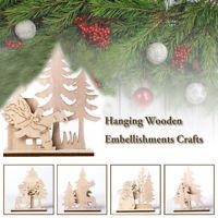en bois Sculpture en bois Décoration de table Décoration de Noël Buck Père Noël