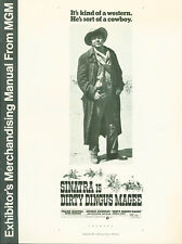Dirty Dingus Magee (1970) press book  Frank Sinatra, George Kennedy Anne Jackson