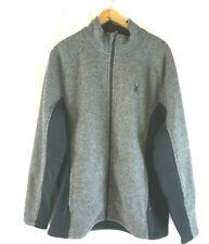 NEW SPYDER Mens Gray/Black Foremost Heavy Weight Full Zp Fleece Lined Jacket XXL
