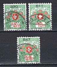 Switzerland - 1927 Freedom of postage -  Mi. 11-13 I (large number) VFU