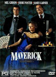 Maverick : Mel Gibson : NEW DVD * FREE EXPRESS POST *