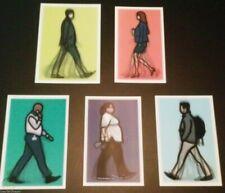 JULIAN OPIE 'Walking in London I' 5 Lenticular 3-D Motion Art Postcard Set *NEW*