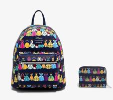 Loungefly Disney Princess Dress Closet Mini Backpack & Wallet Matching Set