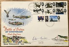 More details for rare 1965 battle of britain fdc signed by douglas bader, raf.