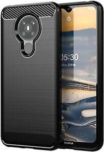 For Nokia 5.3 Case Carbon Gel Cover Ultra Slim Shockproof