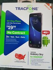 New Samsung Galaxy Sky 4G LTE Prepaid Smartphone Black Tracfone