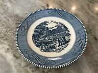 CURRIER AND IVES BLUE by Royal (USA) BREAD & BUTTER PLATE, American
