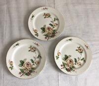 "Lynmore Golden Rose Salad Dessert Small 3 Plates 6.5"" Fine China Japan Vintage"