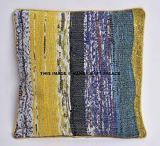 Handmade Stripe Cotton Indian Cushion Pillow Cover Chindi Pillow Case Home Decor