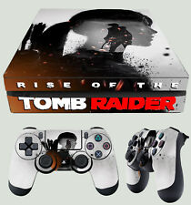 PS4 Slim Aderente Rise of the Tomb Raider 02 sillhuette LARA CROFT kit adesivi