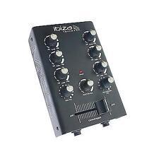 Ibiza 2 Channel Mini Mixer DJ Equalizer Portable Sound Music Audio Mic Headphone