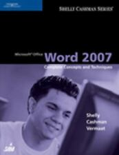Microsoft Office Word 2007: Complete Concepts and Techniques (Available Titles S