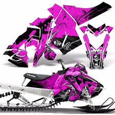 Sled Wrap for Polaris AXYS Graphic Kit Stickers Snowmobile SKS Pro RMK REAP PINK