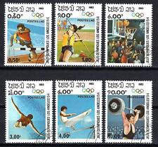 JO été Laos (27) série complète de 6 timbres oblitérés