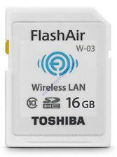 TOSHIBA 16GB 16G 16 G GB SDHC FLASHAIR WIFI CLASS 10 SD HC WIRELESS MEMORY CARD