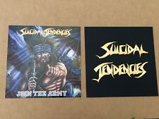Suicidal Tendencies Join The Army Poster Flat Album Lp Record Black Flag Dri Coc