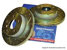 Land Rover Discovery 3 & 4 Performance Rear Drilled & Grooved Brake Discs DA4614