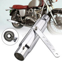 12'' Universal Motorcycle Tapered Exhaust Pipe Silencer For Cafe Racer Custom