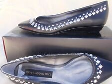 NEW STEVE MADDEN LUXE Black Man Made upper Leather sole size 6,5 US 37 EURO