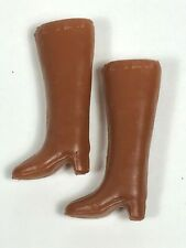 Vintage Barbie Clone High Tall Brown Boots Hong Kong Great Shape