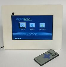 "7"" Digital Picture Frame Slideshow & Music Player w/ Remote White Digitalliving"