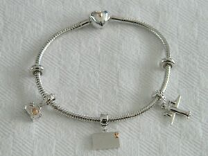 Clogau Silver & 9ct Rose Gold Cariad Holiday Bead Charm Bracelet Set RRP £360.00