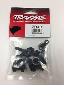 NEW! TRAXXAS 1/16 STEERING ARM SET E-REVO, SLASH, RALLY, SUMMIT. PART# 7043