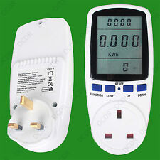 Electric Power Consumption Meter Measures Energy Use & Cost of Running Appliance