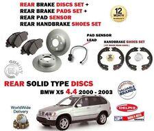 para BMW X5 4.4 286bhp 2000-2003 Juego freno disco trasero + pastillas+ zapatas+
