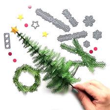 Merry Christmas Metal Xmas Tree Wreath Cutting Dies Stencil Scrapbook Paper Card