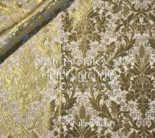 Church Liturgical Vestment Brocade Gold 155cm - 61'' wide Hieratic-6 (2 colors)