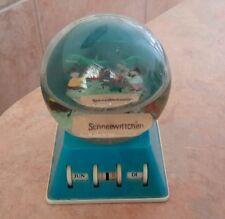Snowdome Globe Calendar Plastic German Schneewittchen Souvenir Hong Kong Vintage