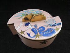 Very Rare Art Deco Boch La Louviere Chevalier Bonbonniere Jewellery box
