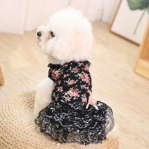 Dog Sweet Lace Princess Skirts Puppy Cat Universal Cute Floral Dress Pet Clothes