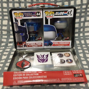 Funko POP! Transformers vs GI Joe Tin Box Optimus Prime Cobra Commander Gamestop