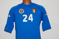 maglia italia DELVECCHIO GIUBILEO 29/10/2000 87%13% match worn player issue Kapp