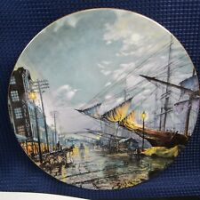Sailing with the Tide 1976 Royal Doulton John Stobart Collectors Plate (1E38)